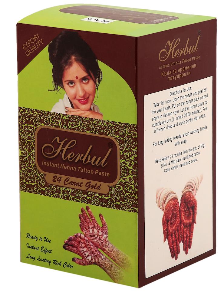 Herbul Instant Henna Tattoo Paste (Black Color)