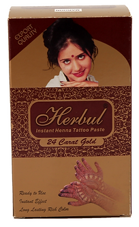 Herbul Instant Henna Tattoo Paste (Maroon Color)