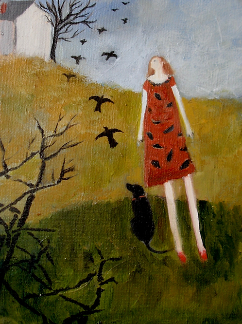 D04 Black Dog and Crows