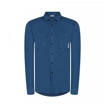 New Worker Hanf Hemd in blau von bleed
