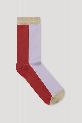 Socken Color Block in pink von Elementy