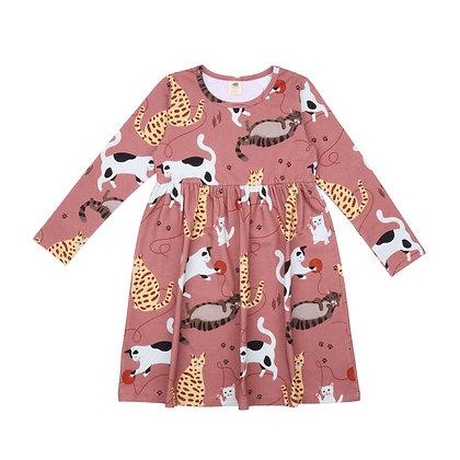 Kleid Playful Cats von Walkiddy CT21-220