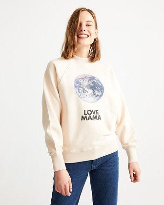 Love Mama Sweatshirt in creme von Thinking Mu