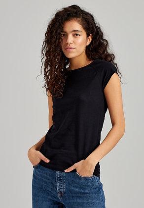 Cap Sleeve T-Shirt in schwarz von ThokkThokk