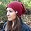 Thumbnail: Strickbeanie in burgund von Róka