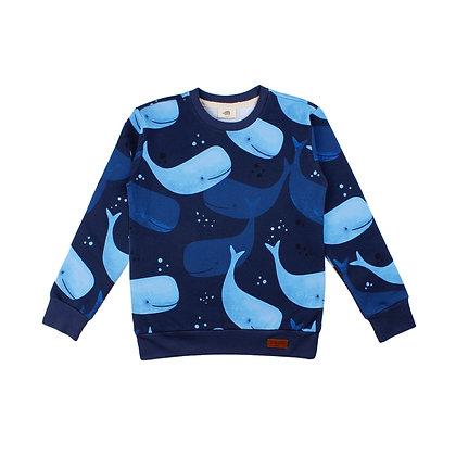 Sweater Smiling Whales von Walkiddy