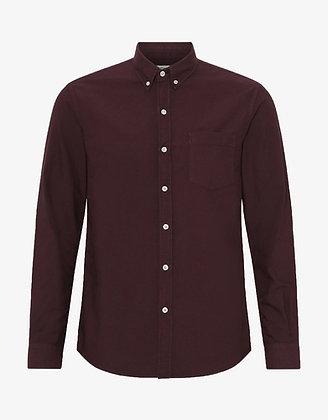 Organic Button Down Shirt in Oxblood Red von Colorful Standard