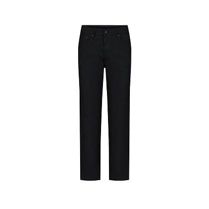 Straight Cut Mom Jeans in schwarz von Bleed