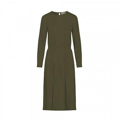 Kleid Flowan aus Lenzig in grün von bleed
