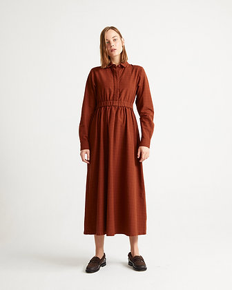 Dress Nara in rostrot von Thinking Mu