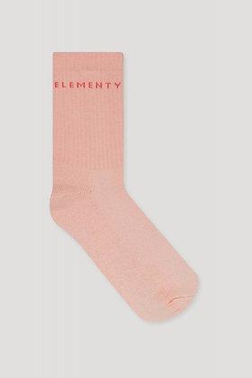 Socken Rib in salmon von Elementy