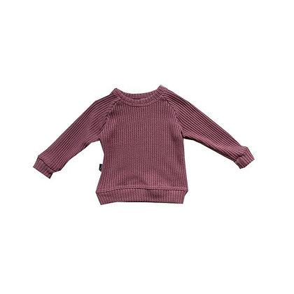 Sweater Marsala in mauve von Siemz
