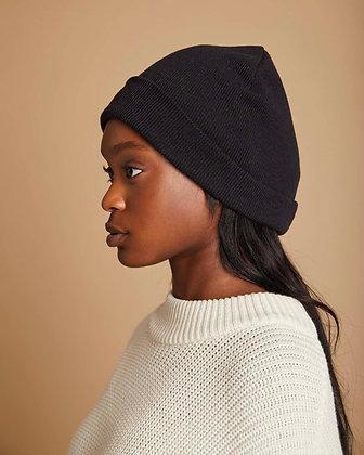 Knit Beanie Brooklyn in schwarz von Jan n June
