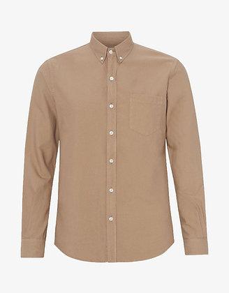 Organic Button Down Shirt in Desert Khaki von Colorful Standard