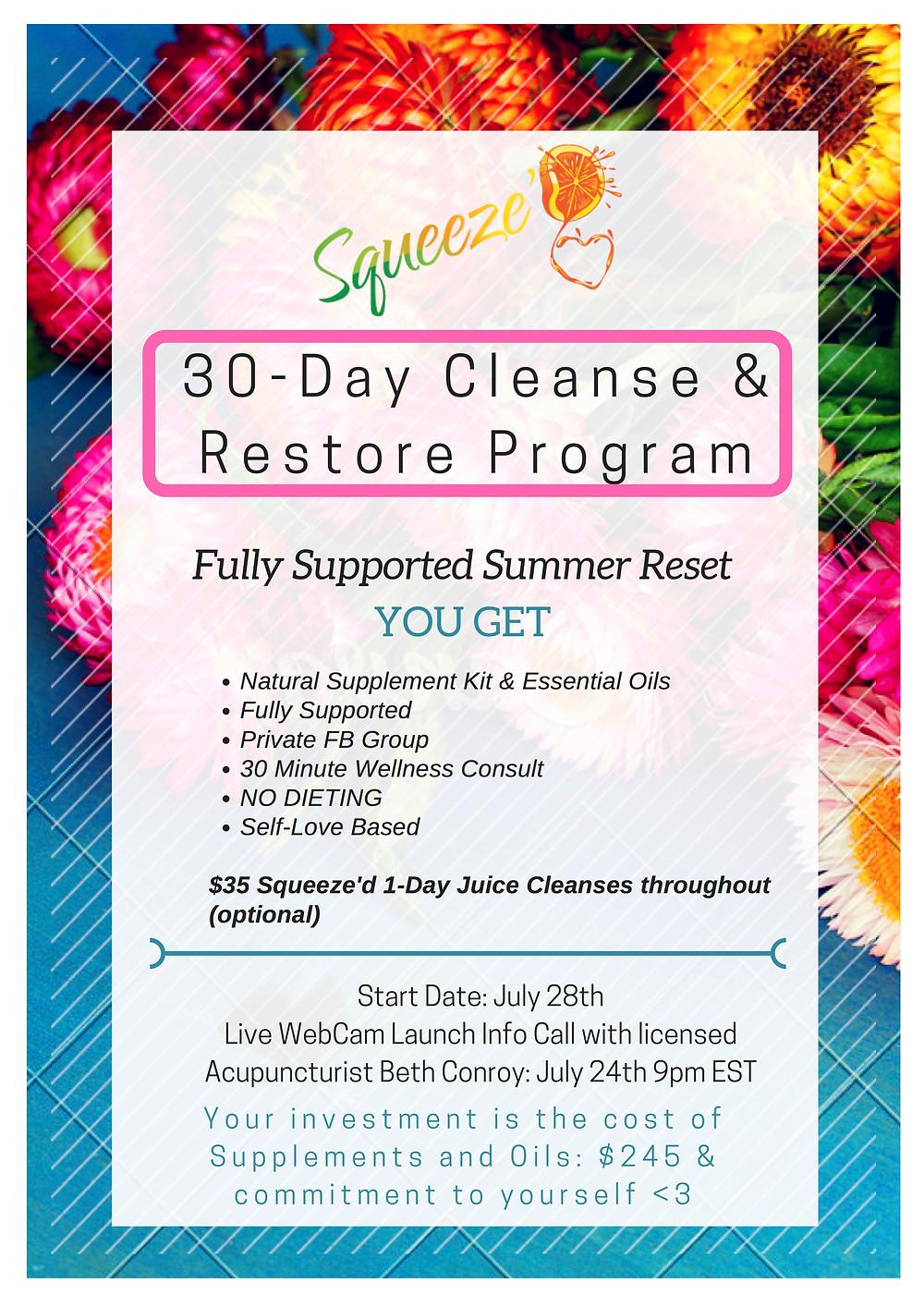 30 Day Cleanse & Restore Program: