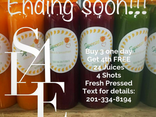 Pre-Thanksgiving Promo!➡️ Buy 3 ONE DAY cleanse packages (18 juices total) ➡️ Get 4th one FREE (6 mo