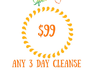 3 days left!3 day squeezed juicecleansedetox 18 juices& 3 rootshots - all for only $99Add