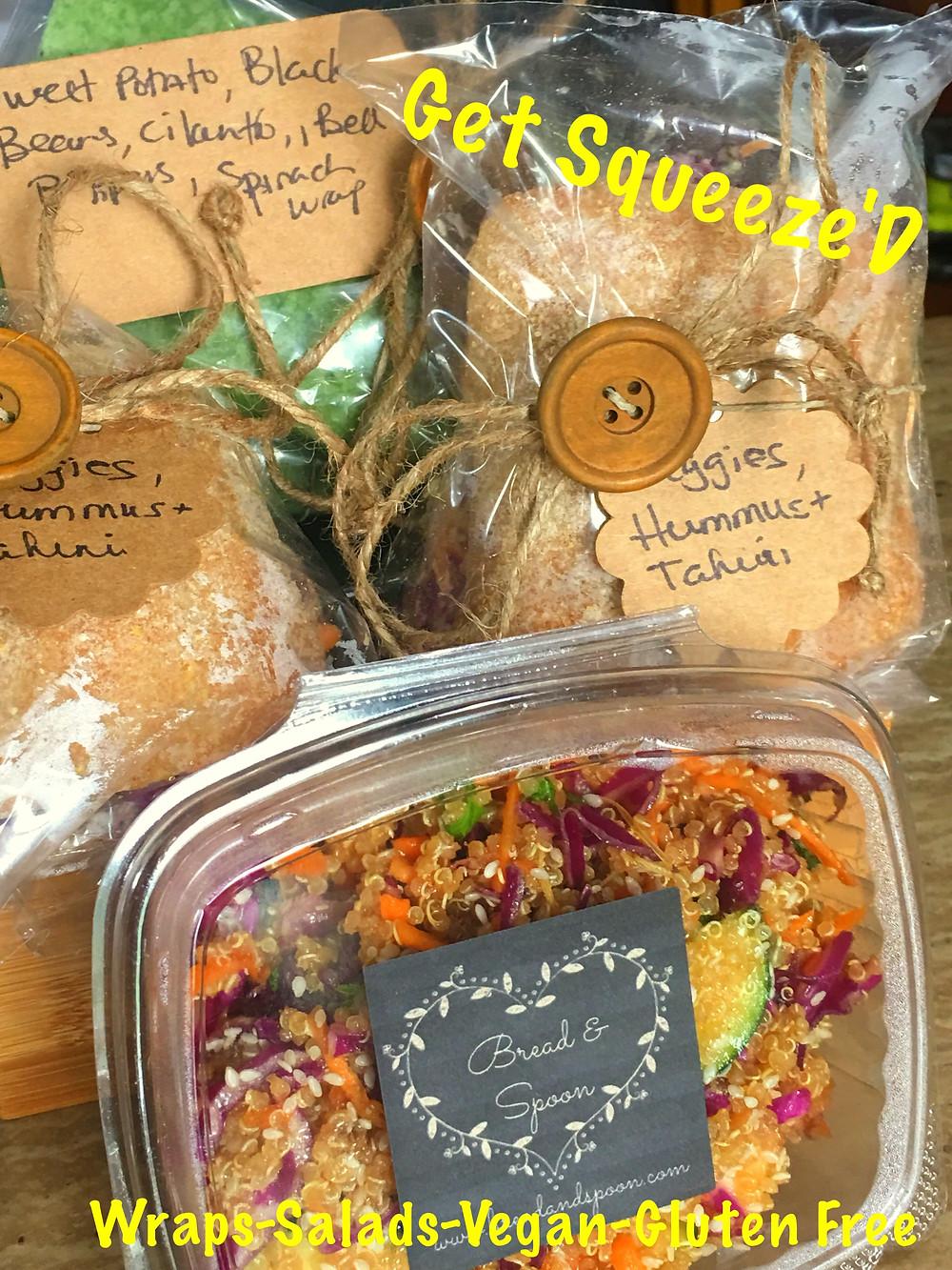 Veggie Hummus Tahini Wrap, Salad