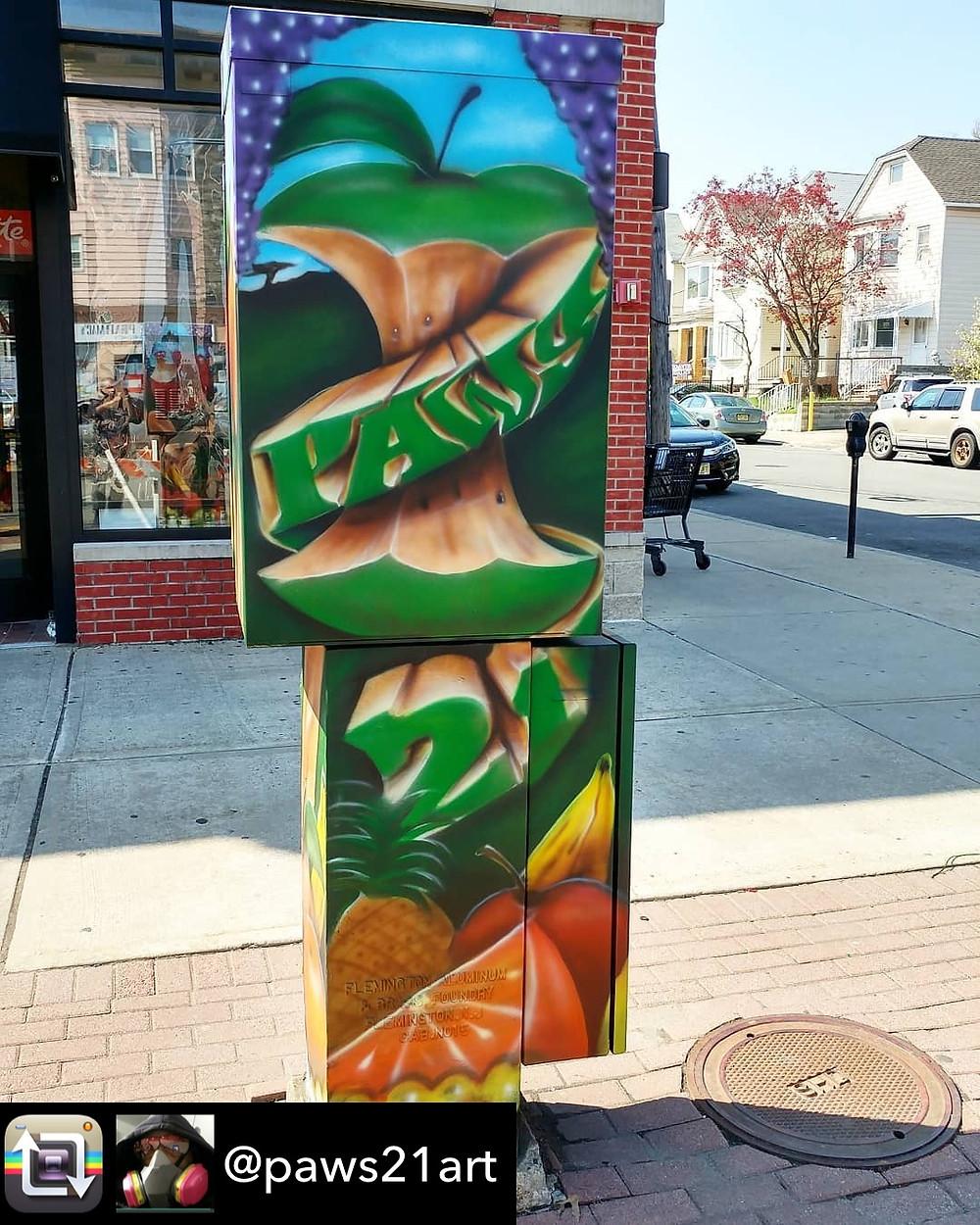 Pawsart21 Art On Box - Avenue C & 26th Street