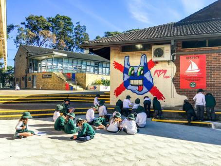 Plastic Free Murals for Beaches School