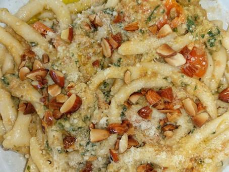 Busiate with Pesto Trapanese: a Sicilian dream!