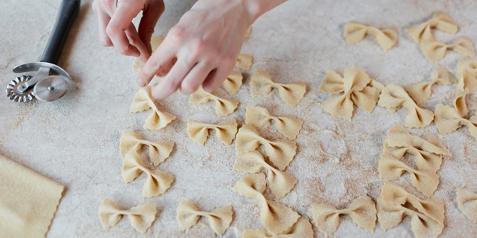 Virtual handmade Pasta Class (farfalle and sorpresine)