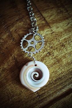 steampunk mermaid necklace