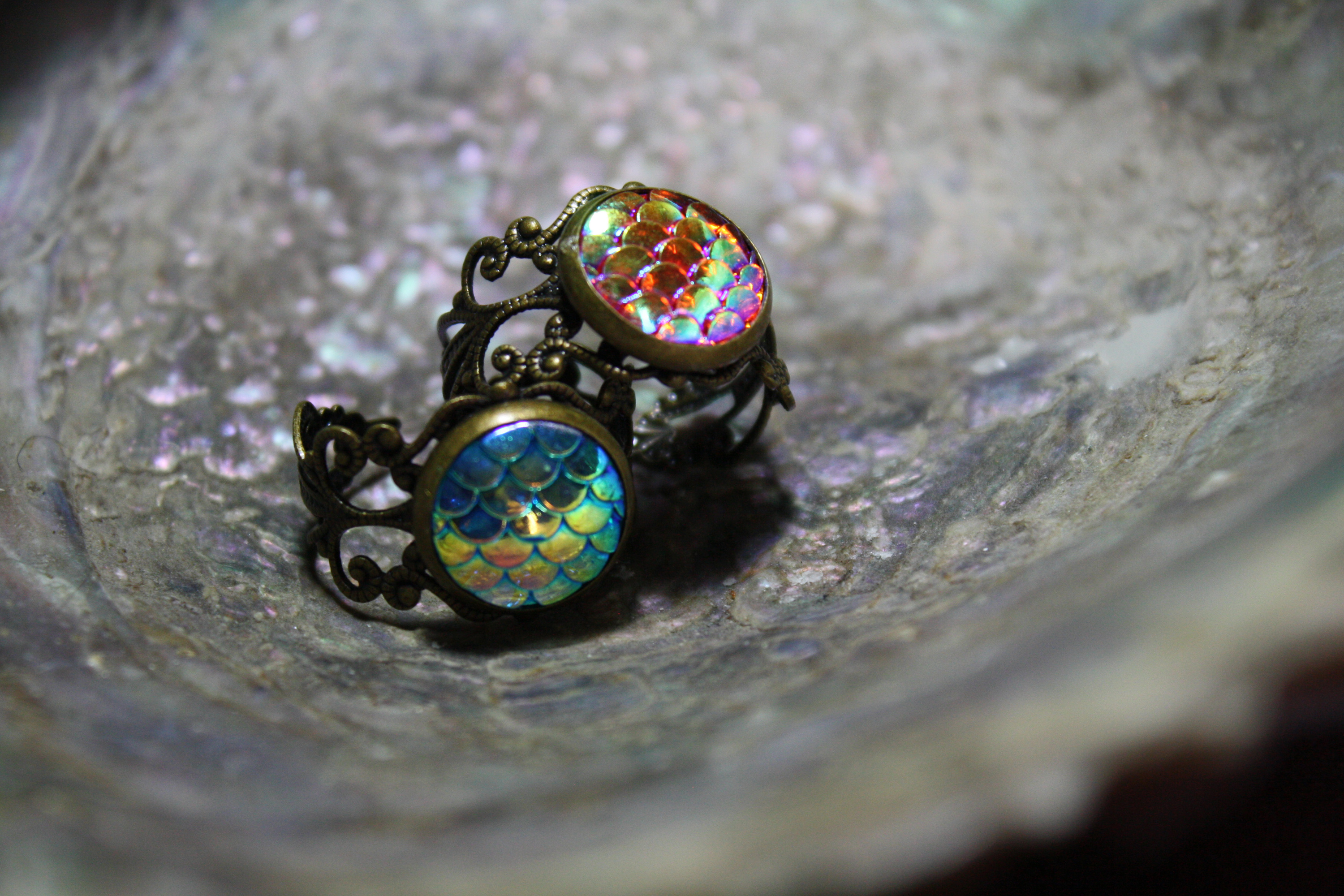 mermaid scale ring