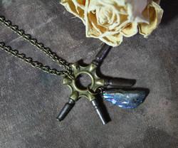 Steampunk Clock Key Necklace