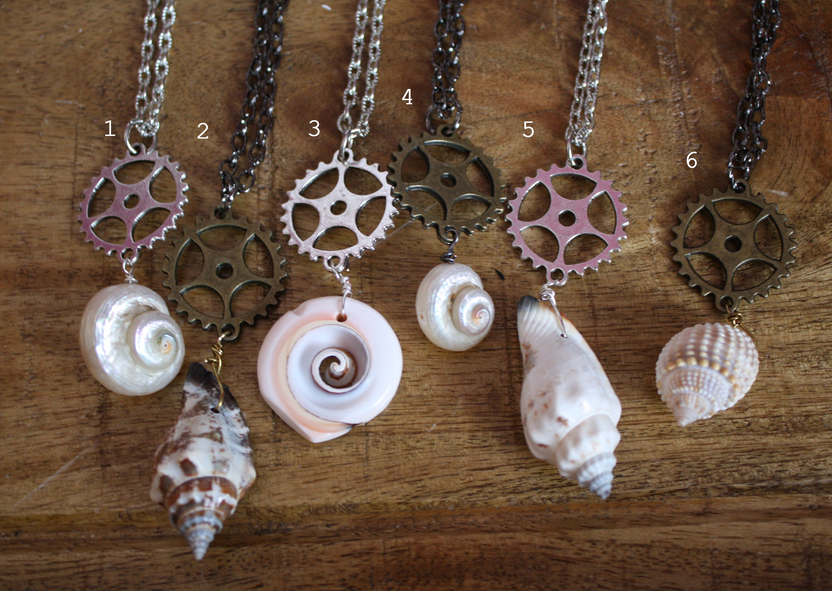 steampunk mermaid necklaces