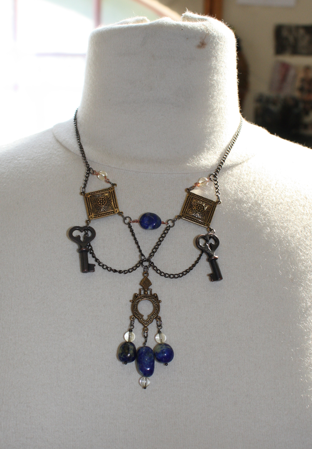 cleopatra tribal fusion necklace