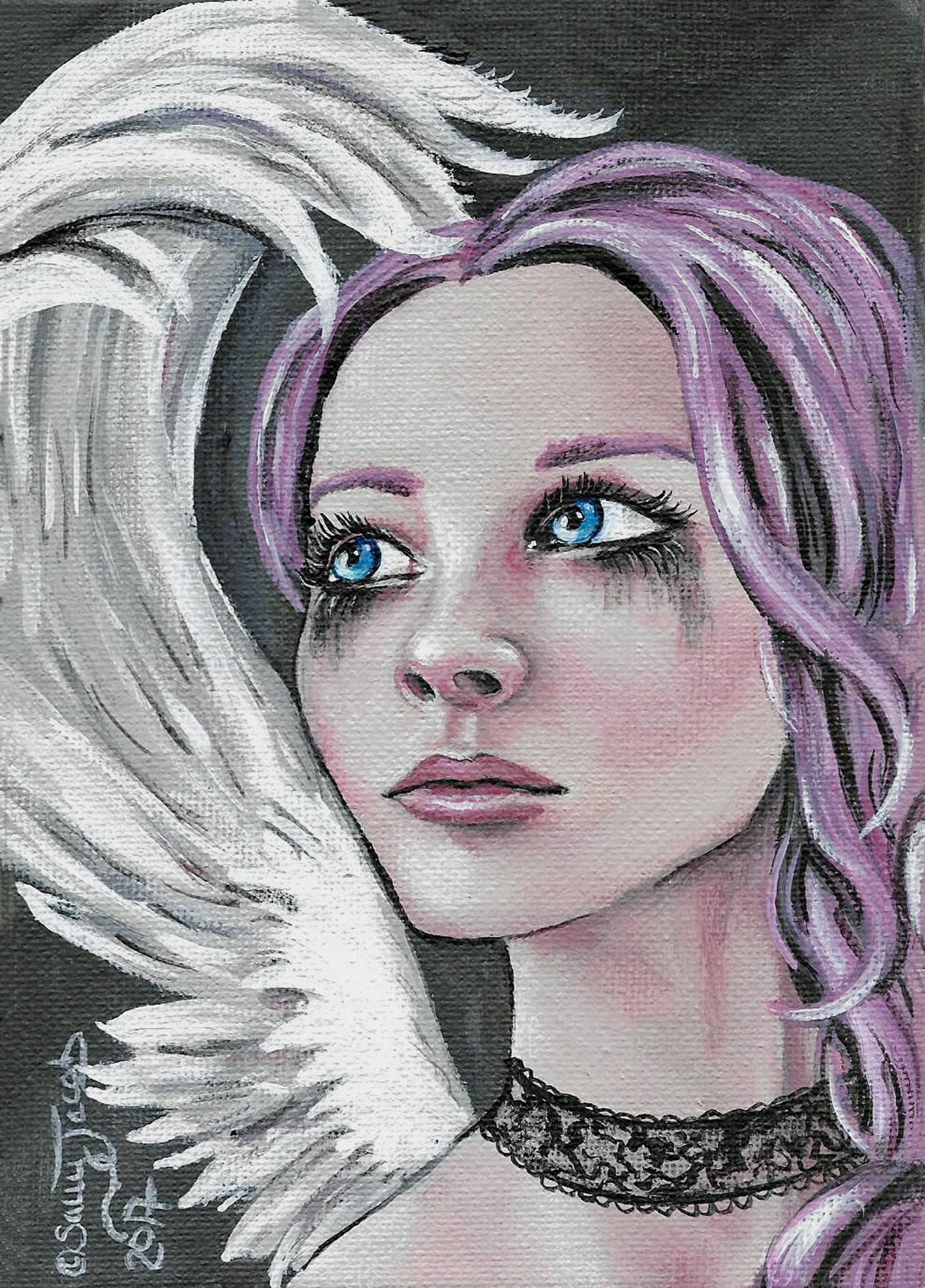 Fallen Angel lowbrow art