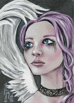 Fallen Angel lowbrow art