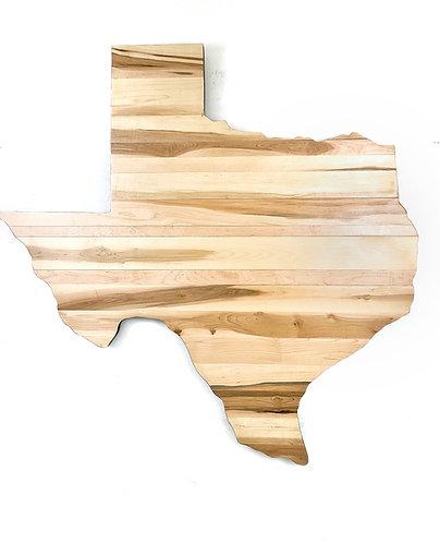 "60"" Pecan Texas Wall Art"