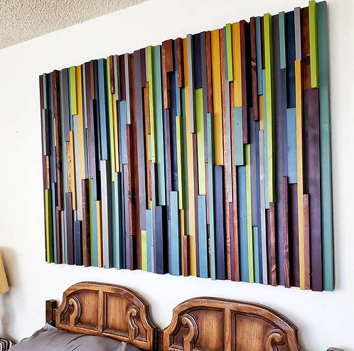 Large Abstract Wood Wall Art