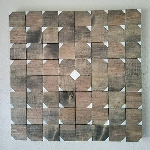 Modern Geometric Wood Wall Art