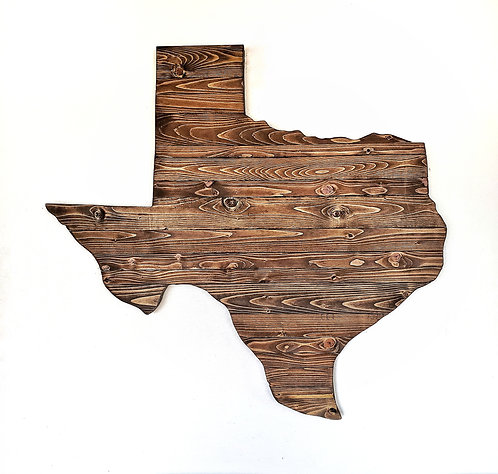 Torched Wood Texas Wall Art