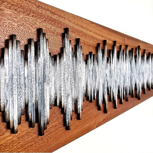 Ultrasound Soundwave on African Mahogany