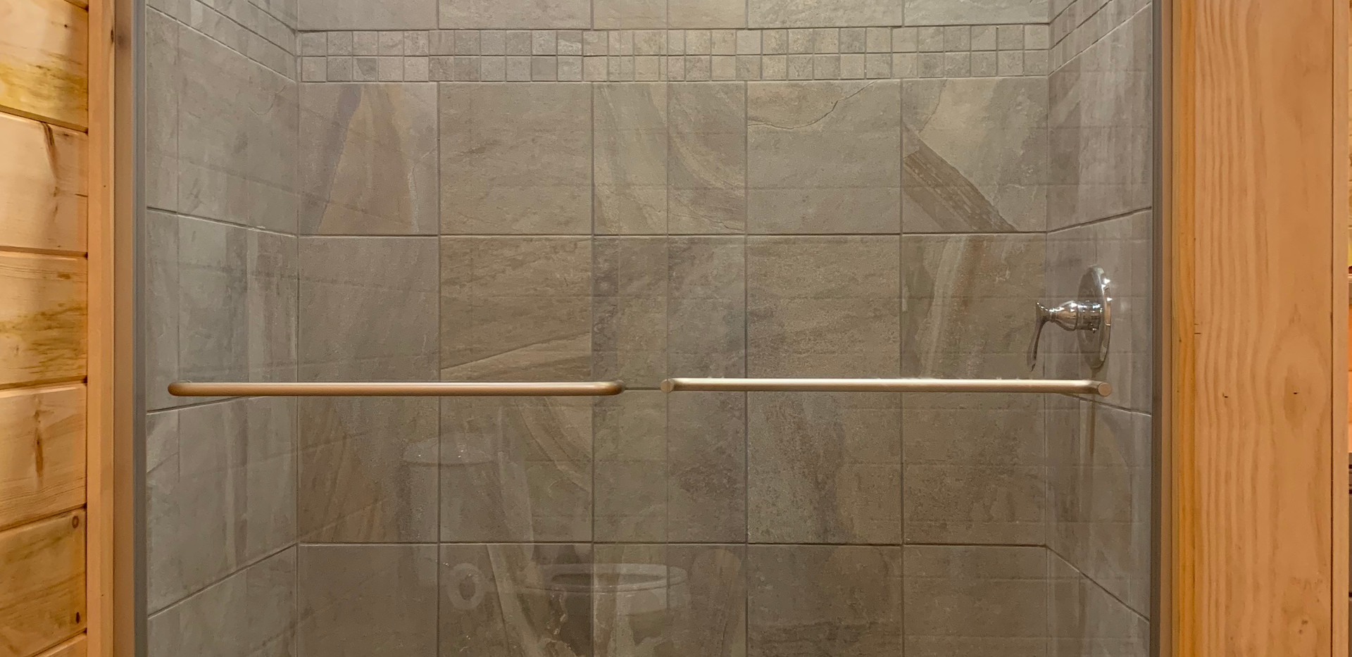 Rainfall Shower in Basement Master Bathroom