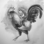 Inktober 2018 Day 5. Chicken!-Hans the Hedgehog