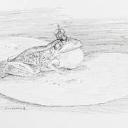 Inktober 2018 Day 17. Swollen-Frog prince