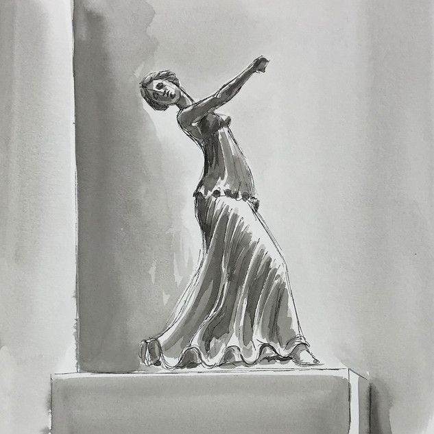 Inktober 2018 Day 22. Expensive-Greek dancer