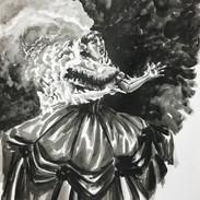 Inktober 2018 Day 3. Roasted-Victorian Vampire