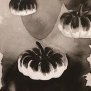 Inktober 2016 Day 7. Floating Pumpkins