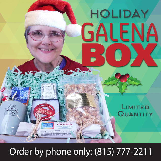 """This """"sitting by the fireplace"""" themed Galena Box makes a great gift!"""