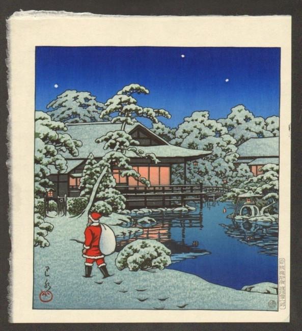 明治大正昭和初期に描かれたサンタさんはこんな感じ