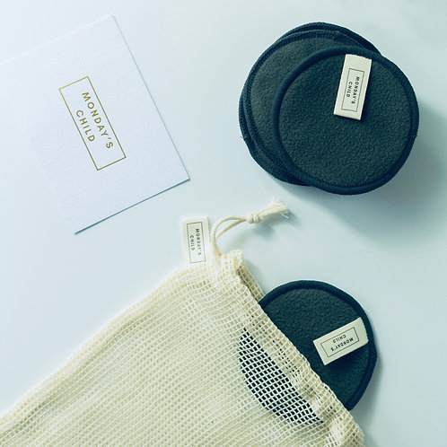 CHARCOAL REUSABLE CLEANSING PADS