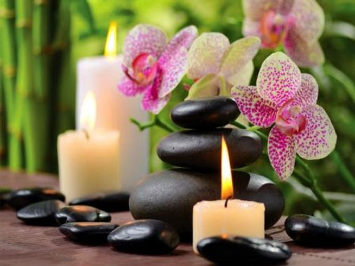 black bassalt stones used in hot stone massage