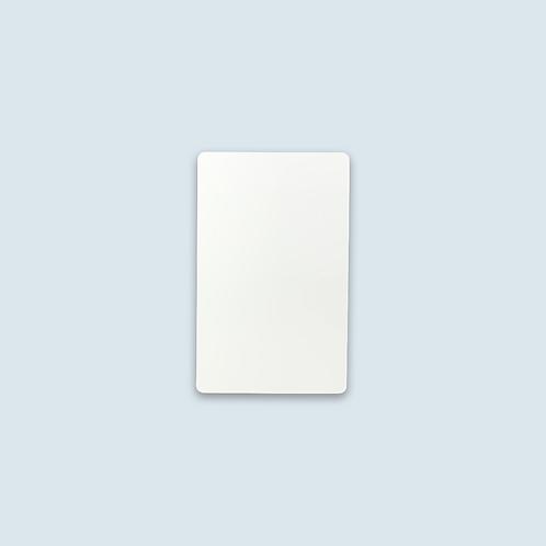 "Plastic Cards, White, Overlaminate, CR8030 (3.375"" x 2.125""),  Qty. 500"