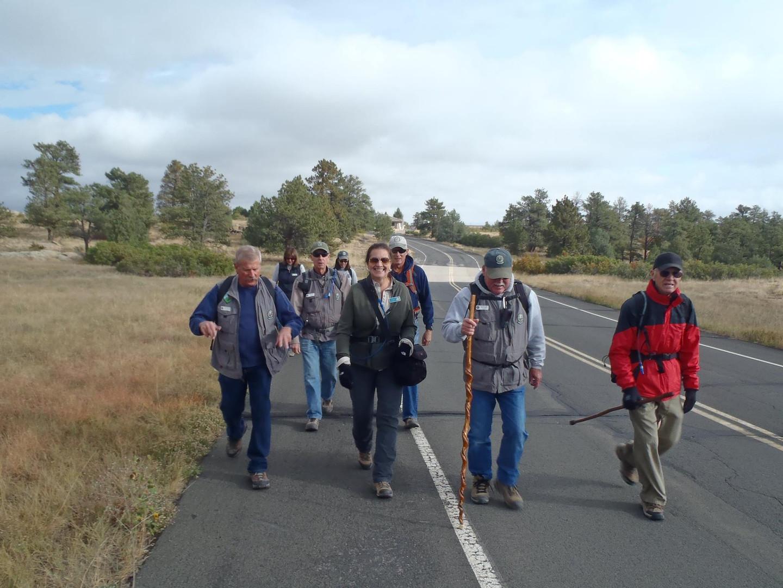 Members on a Tribe Hike
